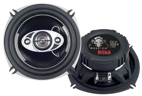 P55.4C Boss Audio Speaker 5-1/2 Inch Diameter 4-Way Coaxial Speaker