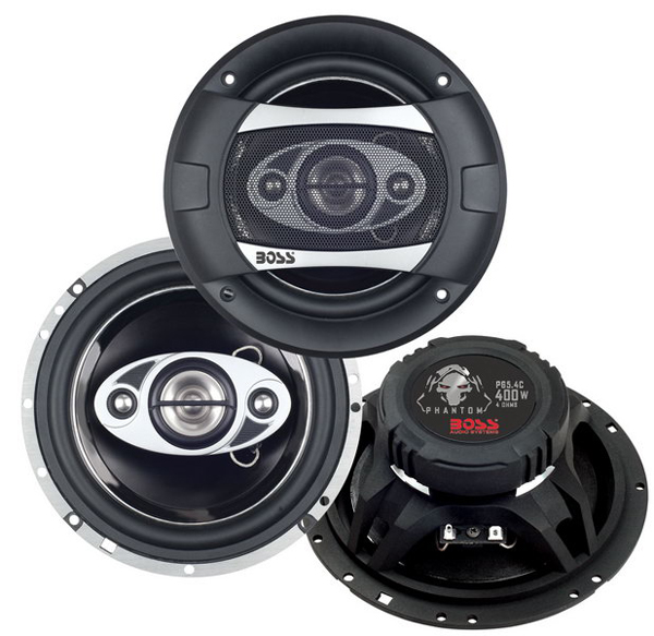 P65.4C Boss Audio Speaker 6-1/2 Inch Diameter 4-Way Coaxial Speaker