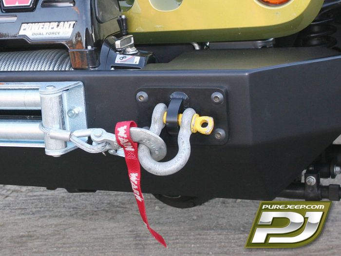 PJ6000 PureJeep D-Ring Mount Bolts To Bumper