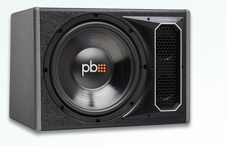 PS-WB121 Powerbass Bass System 12 Inch Subwoofer/ 13-1/2 Inch Height x  18-3/4 Inch Width x 12-1/4 Inch Top Depth x 14 4 Inch Bottom Depth Box  Vented E