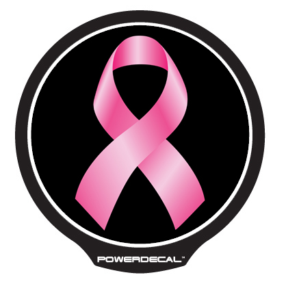 PWRC101162 PowerDecal Decal Breast Cancer Ribbon
