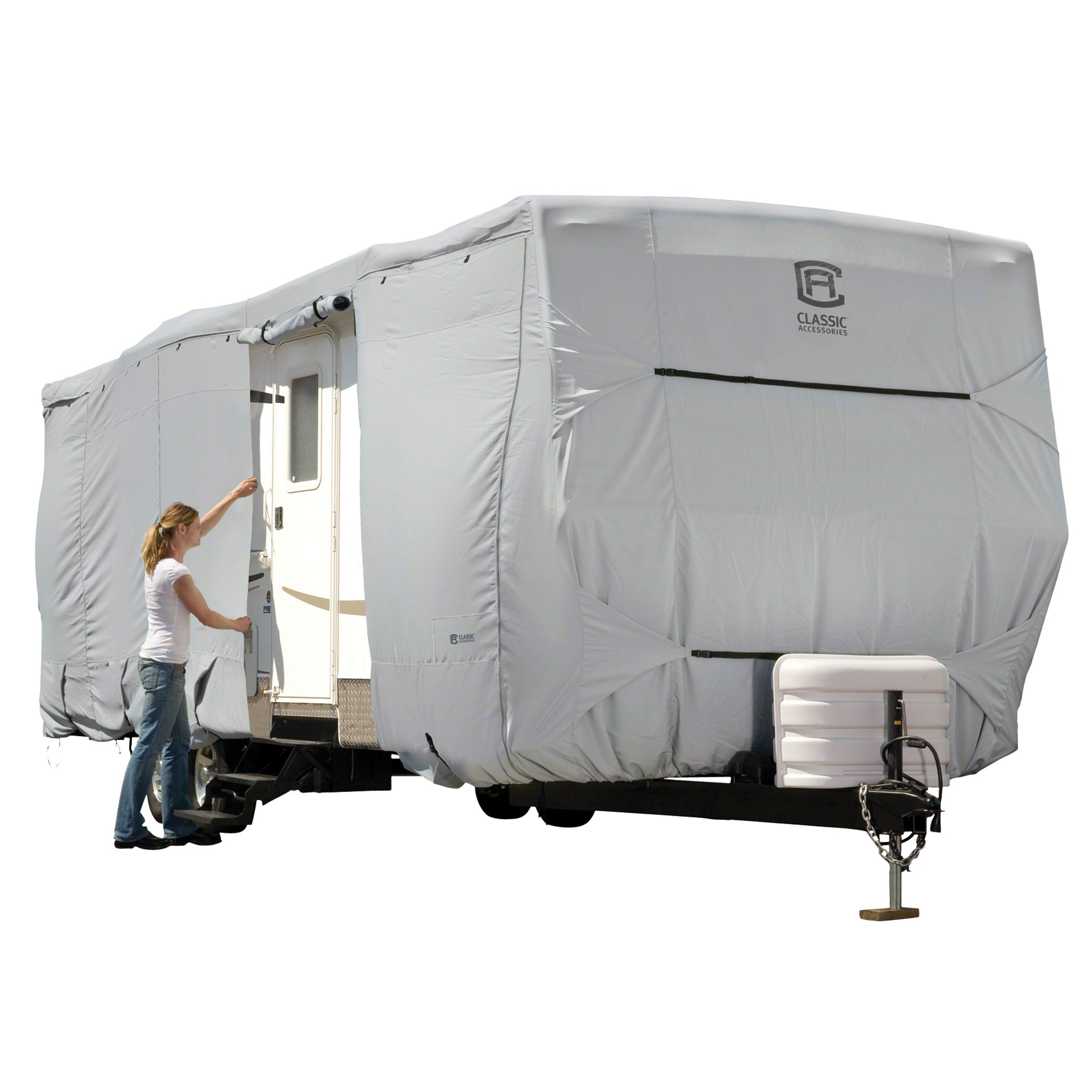 80-326-211001-RT Classic Accessories RV Cover For Travel Trailers