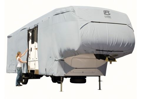 80-121-141001-00 Classic Accessories RV Cover For Fifth Wheel Trailers