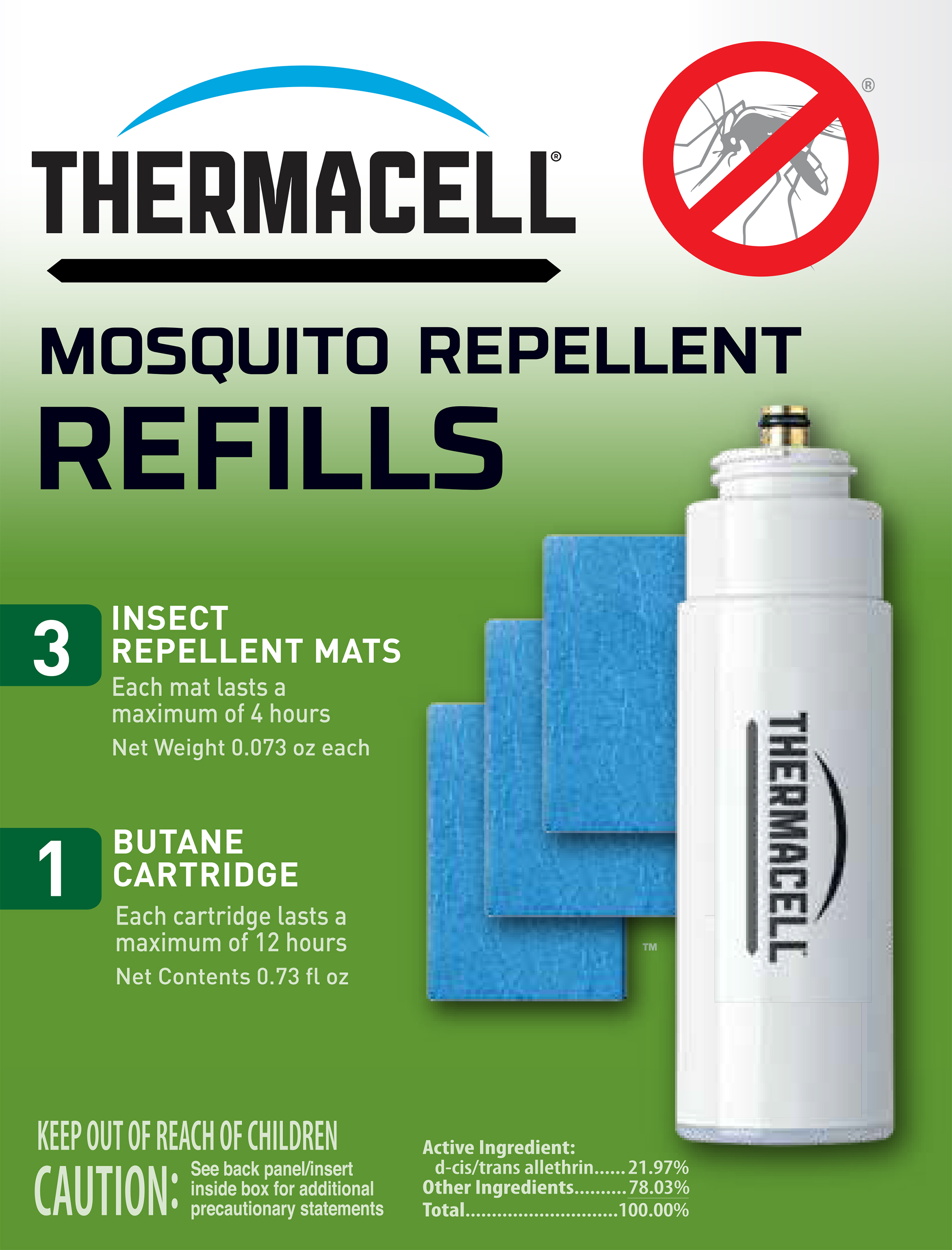 R-1 ThermaCell Mosquito Repellent Refill Use With All Thermacell