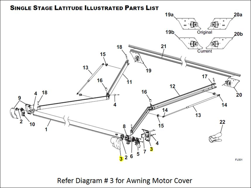 R001783 006 Carefree Rv Awning Motor Cover For Use With