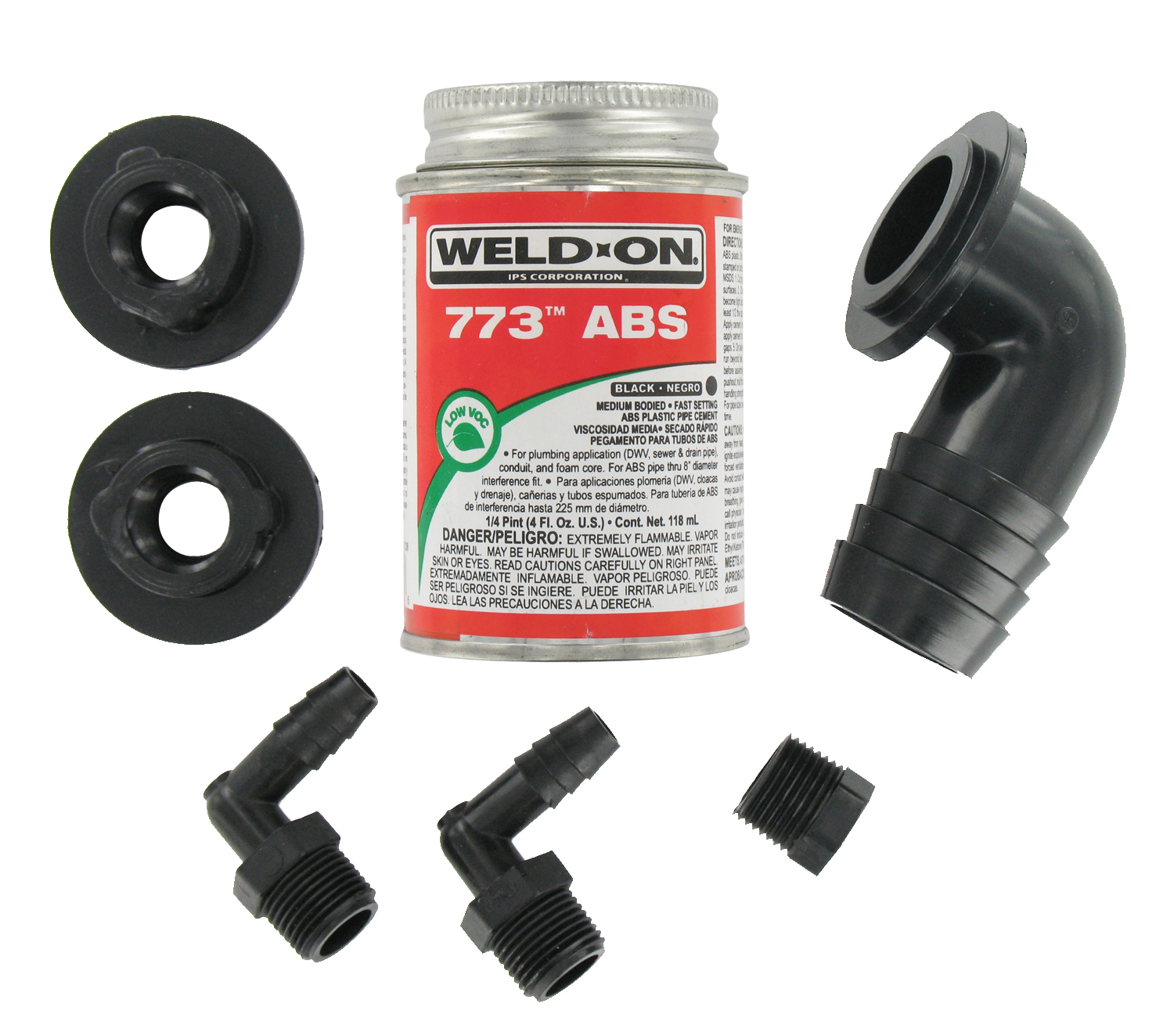 RK907 Valterra Fresh Water Tank Fill Kit With 1-1/4 Inch 90 Degree