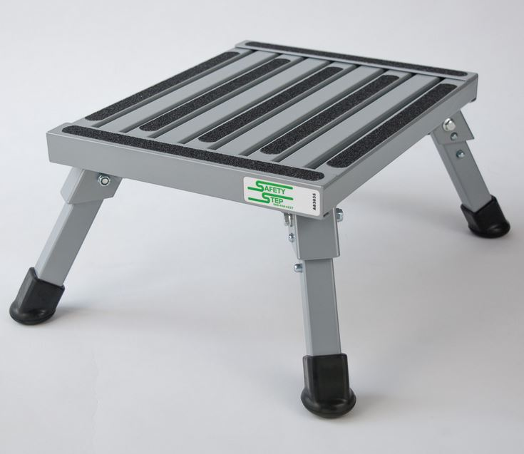 S-07C-S Safety Step Step Stool One Step With Non-Slip Strips And