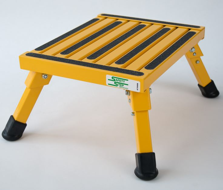 S-07C-Y Safety Step Step Stool One Step With Non-Slip Strips And