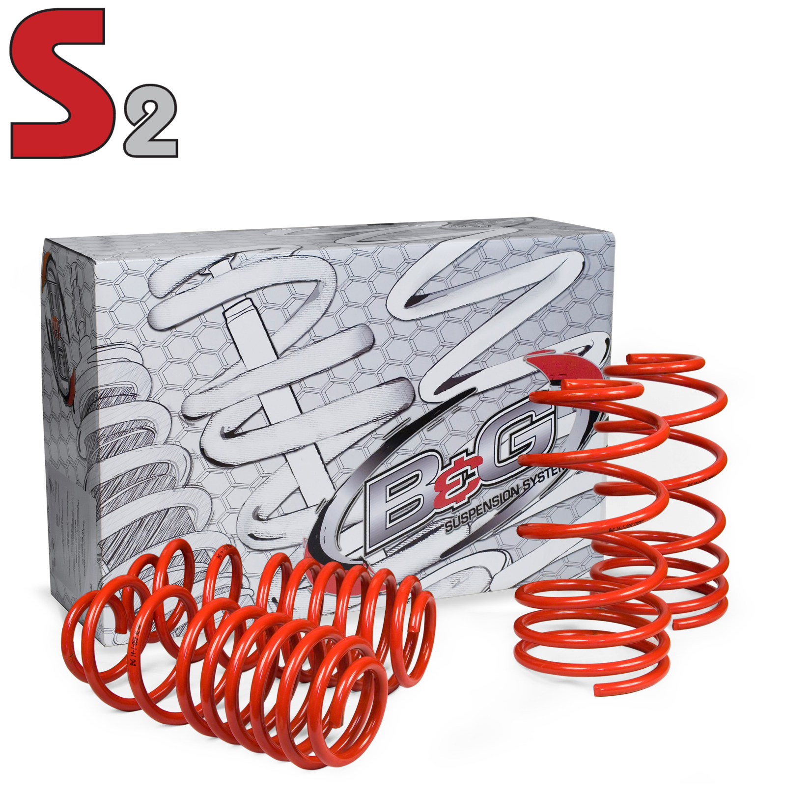 08.1.034 B&G Springs Lowering Kit 1.25 Inch Front Drop/ 1.25 Inch