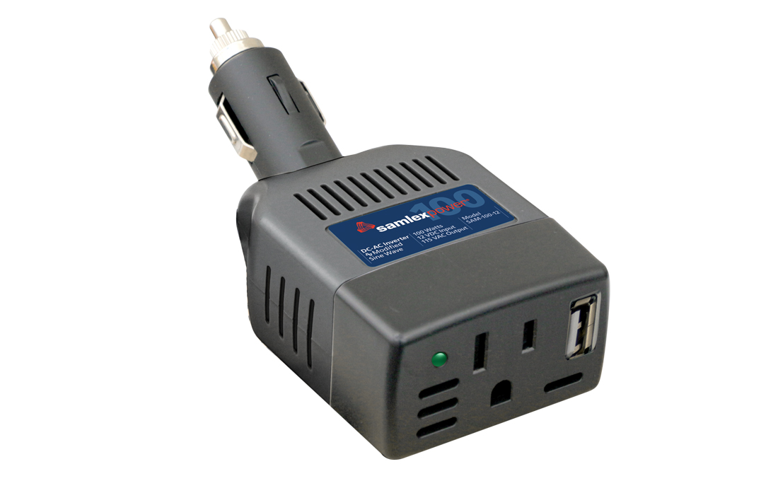 SAM-100-12 Samlex Solar Power Inverter Inverts 12 Volt DC To 115 Volt