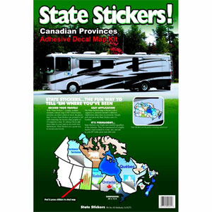 800 State Stickers Canadian Sticker Map