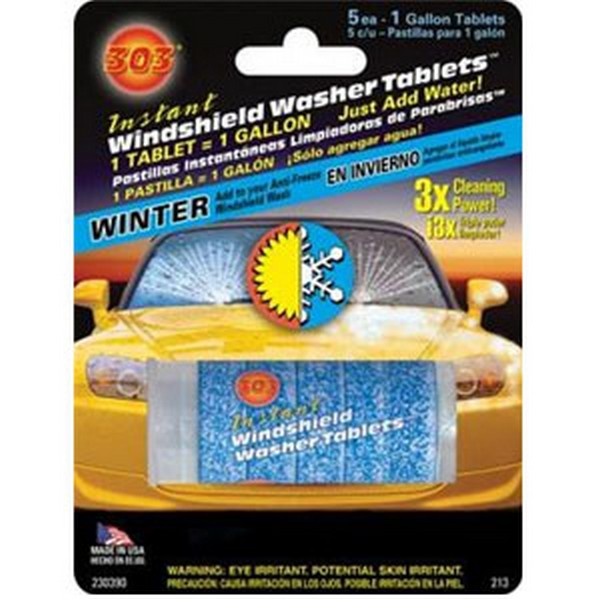 230390 303 Products Instant Windshield Wash Tablets 5 Cd