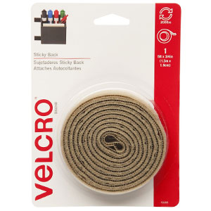 Velcro Brand - Sticky Back - 5' x 3/4' Tape - Beige