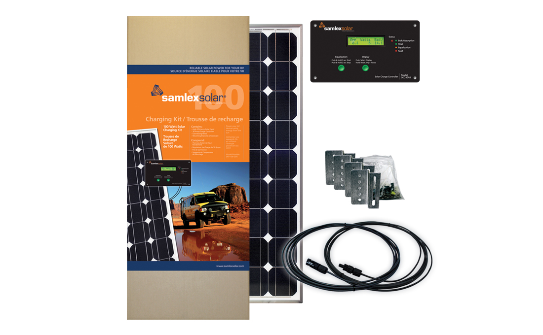 SRV-100-30A Samlex Solar Solar Kit Battery Charging Panel Kit