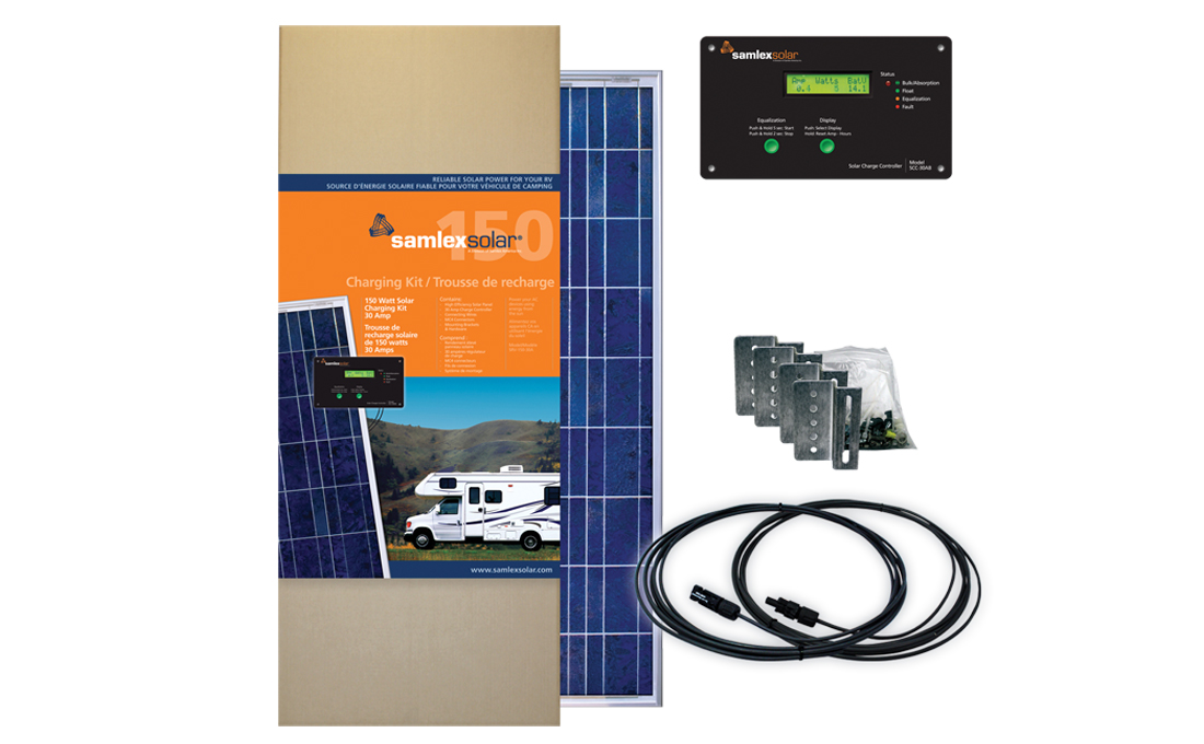SRV-150-30A Samlex Solar Solar Kit Battery Charging Panel Kit