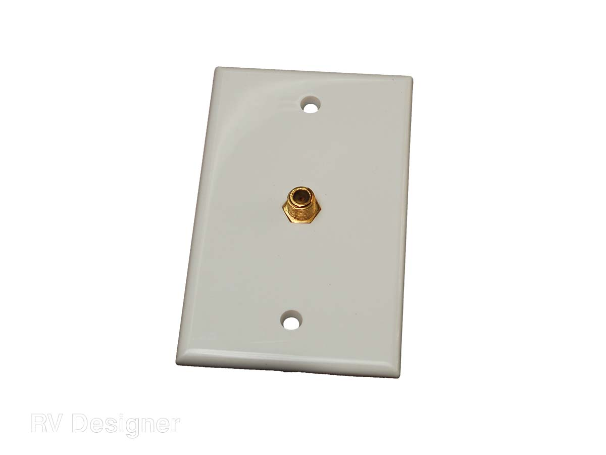 T141 RV Designer TV Cable Entry Plate Single Interior Cable
