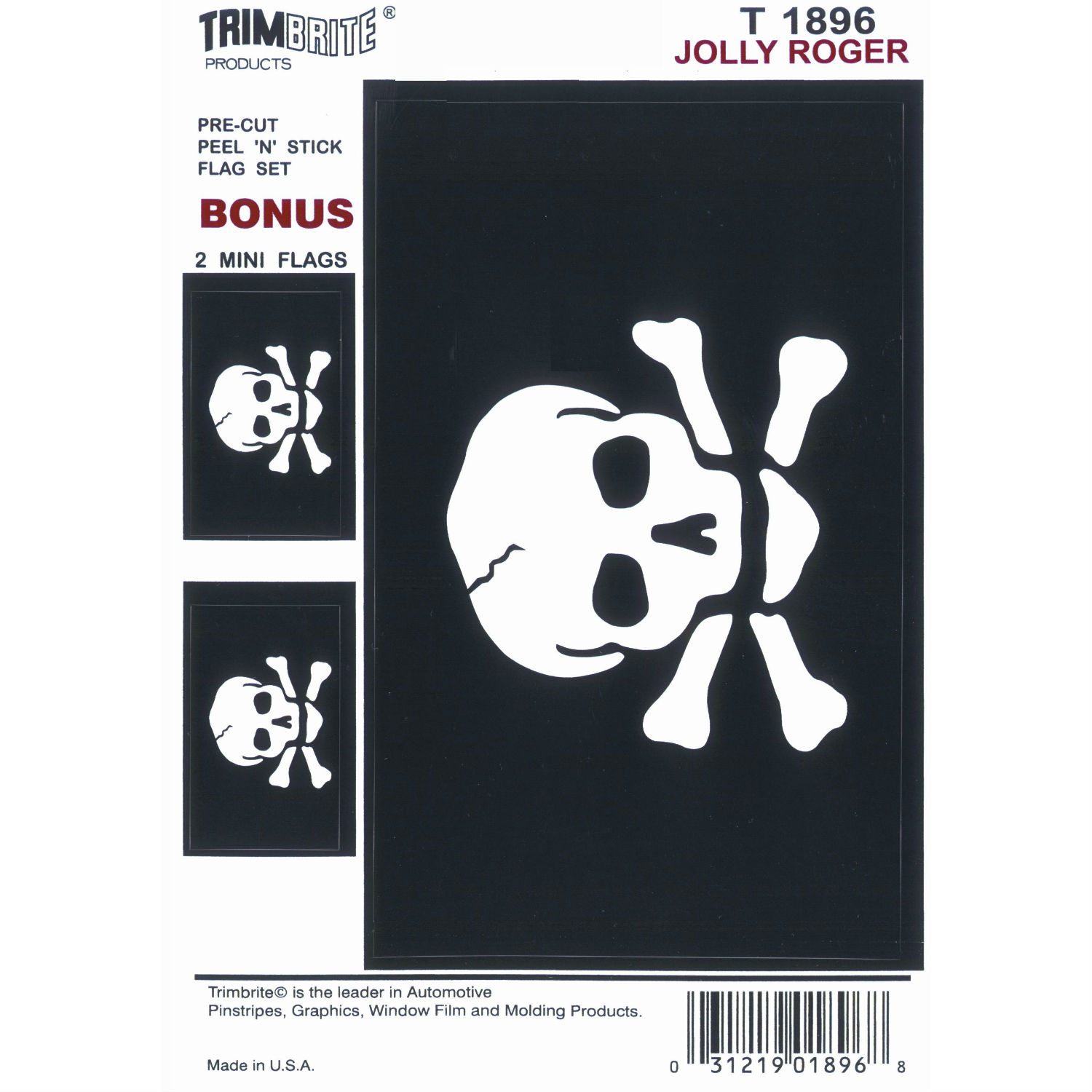 T1896 Trimbrite Decal Jolly Roger Flag