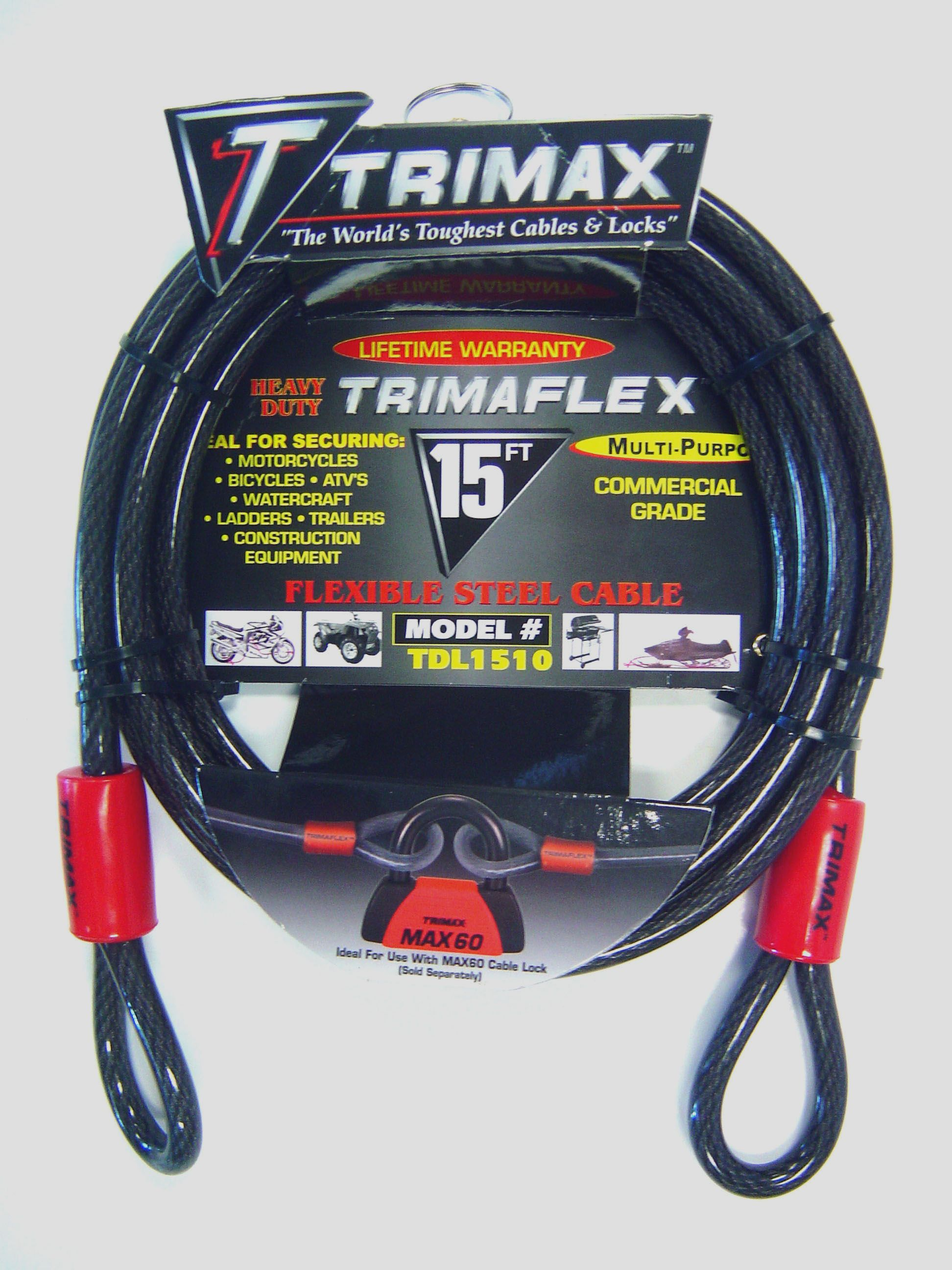 TDL1510 Trimax Locks Security Cable Without Lock