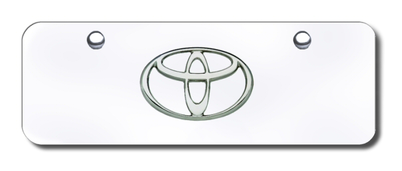 TOY.CCM Automotive Gold License Plate Chrome Toyota Logo