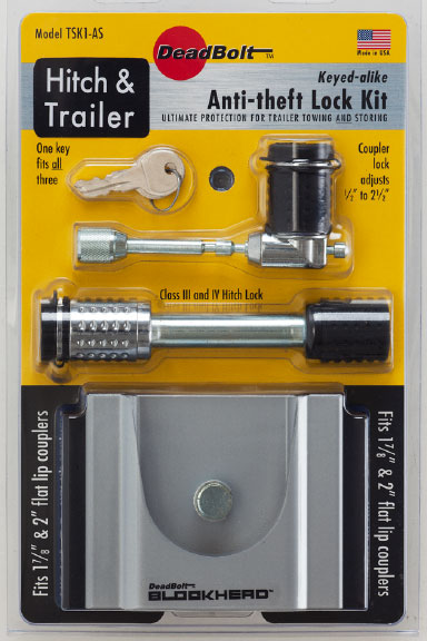TSK1-AS C.T Johnson Trailer Coupler Lock For 1-7/8 Inch/ 2 Inch Flat