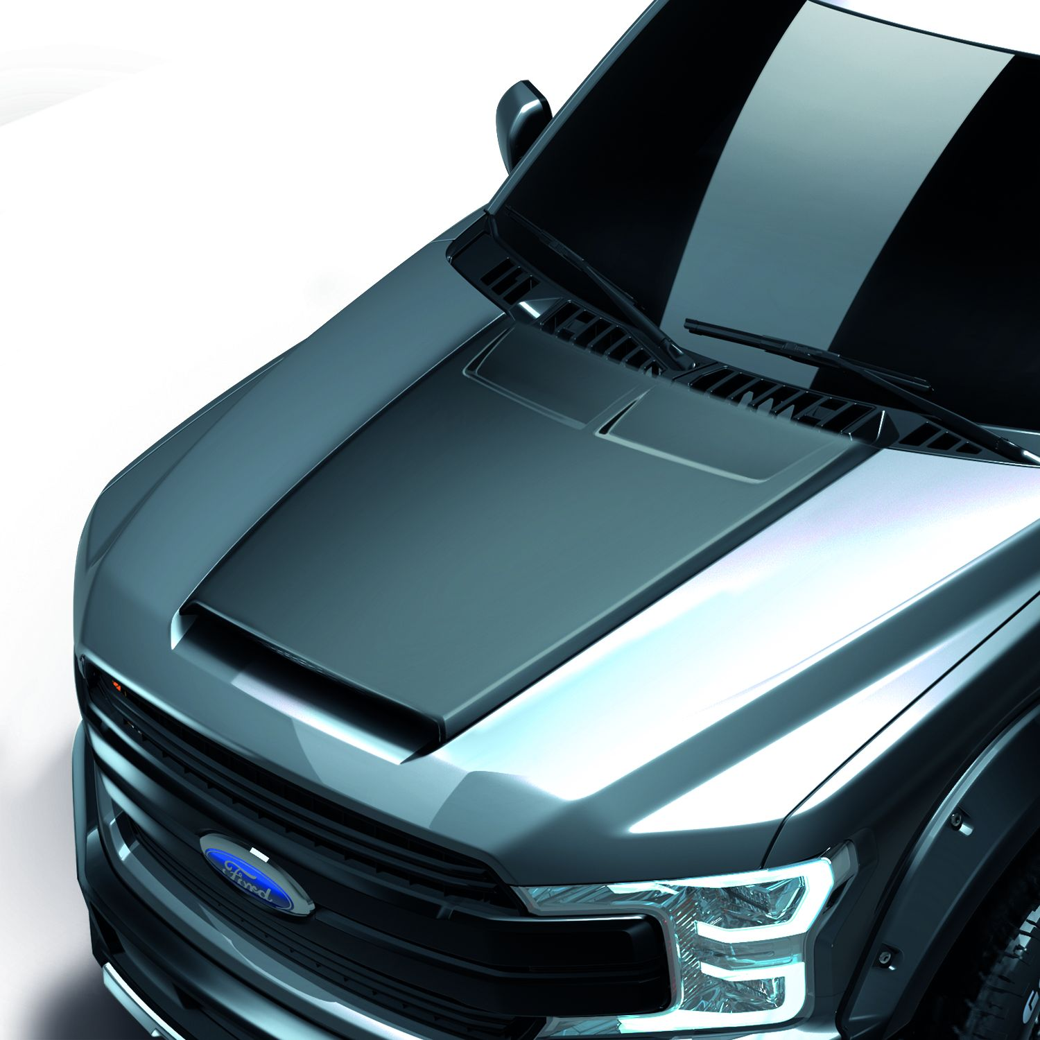 1129cpnufo25a01 Air Design Hood Scoop Body Styling