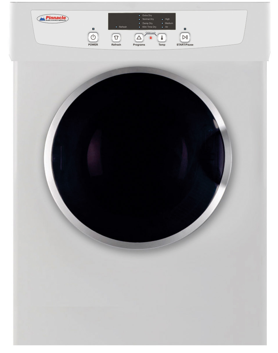 18-860 Pinnacle Appliances Clothes Washer/ Clothes Dryer/ Combo Unit