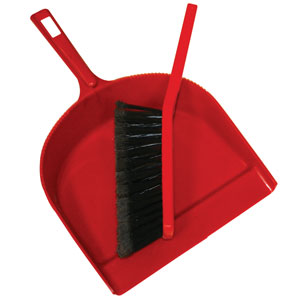 Brooms, Handles & Dust Pans