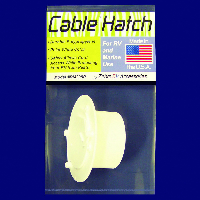 RM208P Zebra RV Access Door Cable Hatch