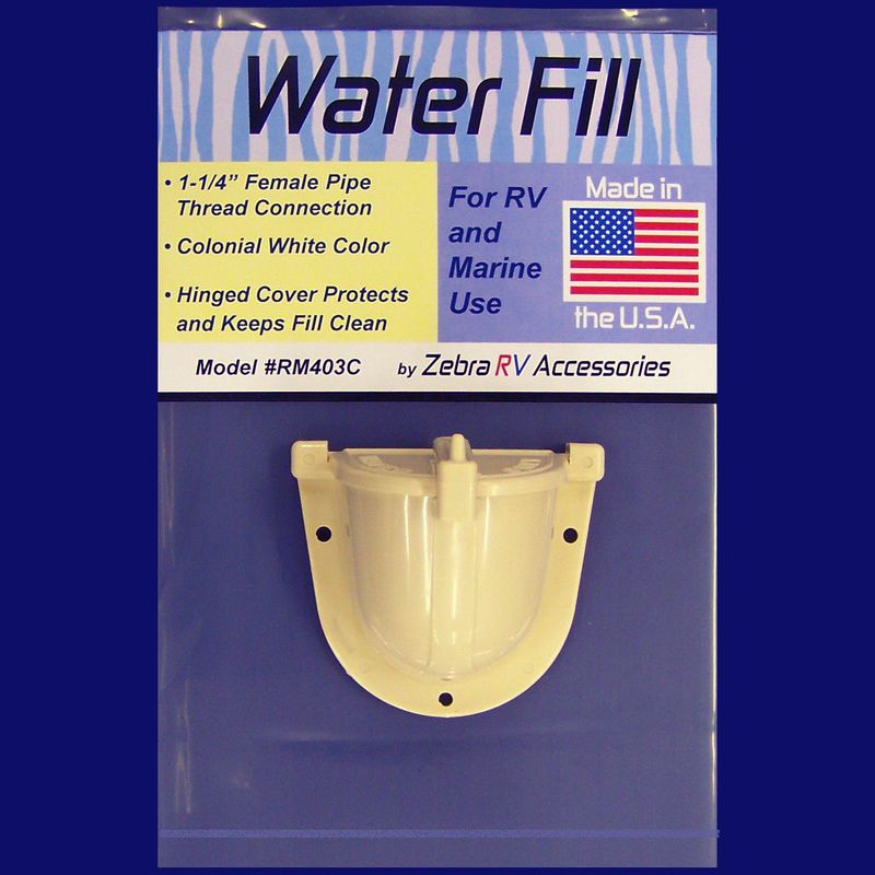 RM403C Zebra RV Fresh Water Inlet Used For RV And Marine Fresh Water