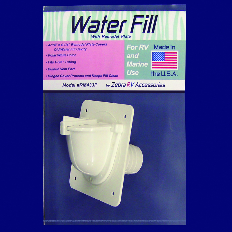 RM433P Zebra RV Fresh Water Inlet Used For RV And Marine Fresh Water