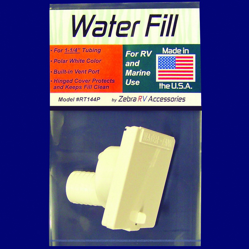 RT144P Zebra RV Fresh Water Inlet Used For RV And Marine Fresh Water