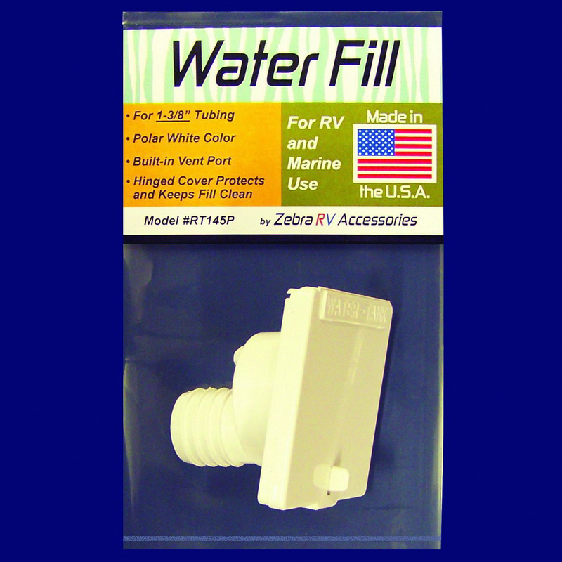 RT145P Zebra RV Fresh Water Inlet Used For RV And Marine Fresh Water