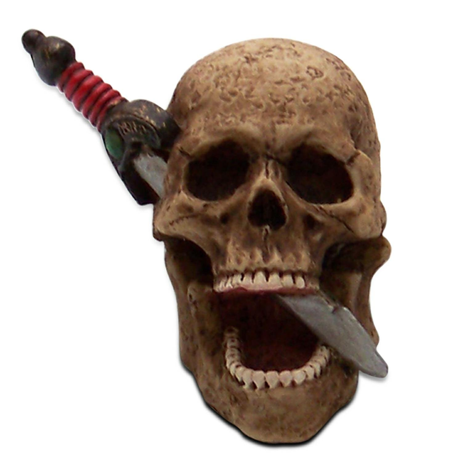 00013 American Shifter Air Cleaner Ornament Skull With Dagger