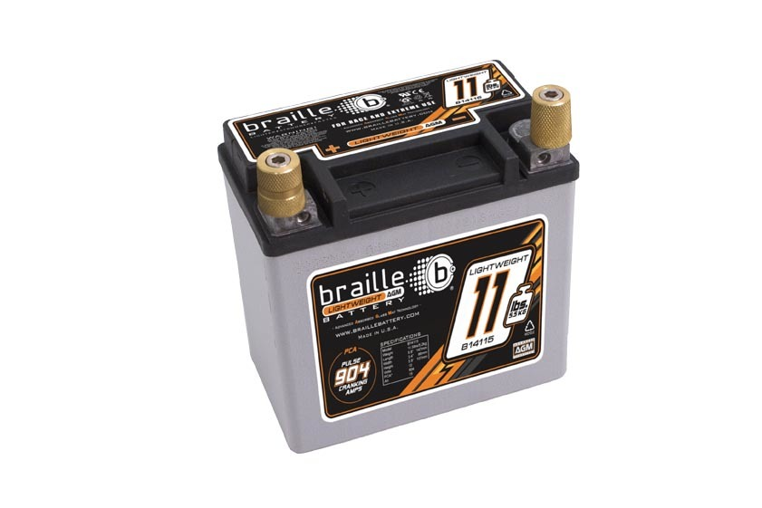 B14115 Braille Auto Battery Racing Battery 11.5lbs 904 PCA