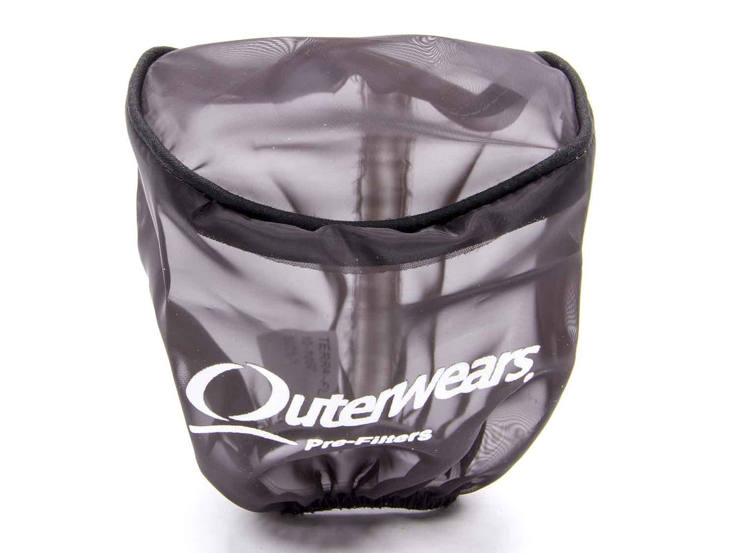 Outerwears 10-1021-01 Pre-Filter Black Oval 15 in x 5.5in x 3.75in Tall