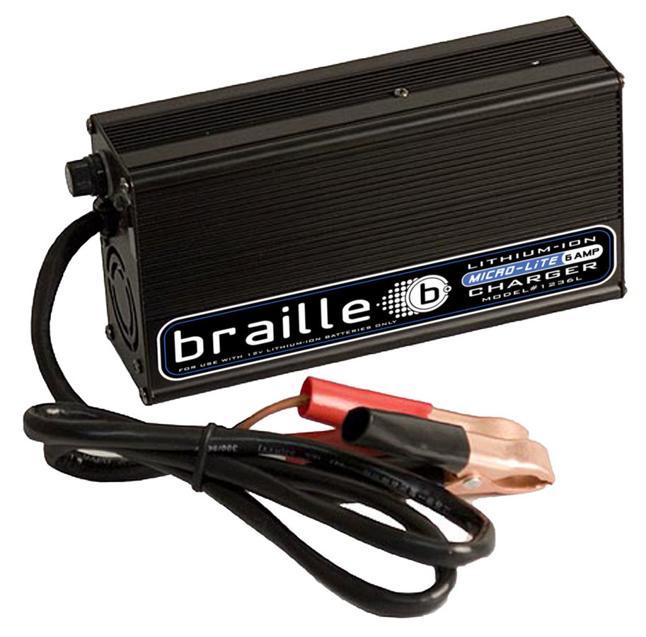 1236L Braille Auto Battery Lithium Battery Charger 6amp Micro-Lite