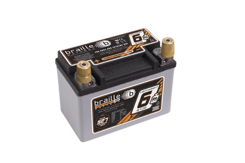 B106 Braille Auto Battery Racing Battery 6.6lbs 527 PCA 5.8x3.4x4.1