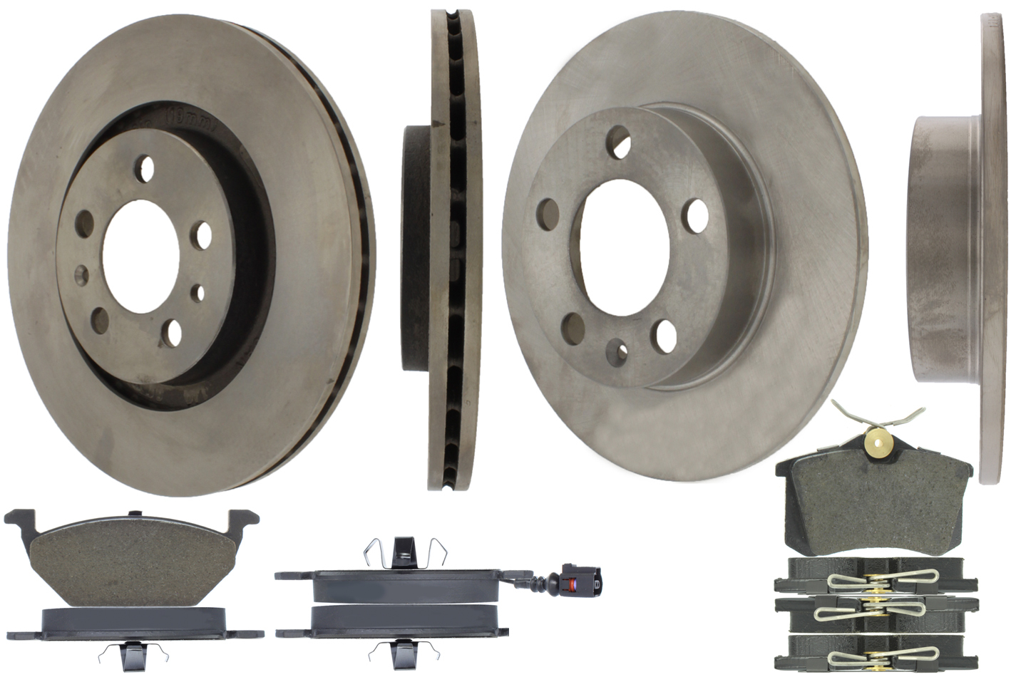 905.33067 Centric Brake Parts Select Axle Pack 4 Wheel