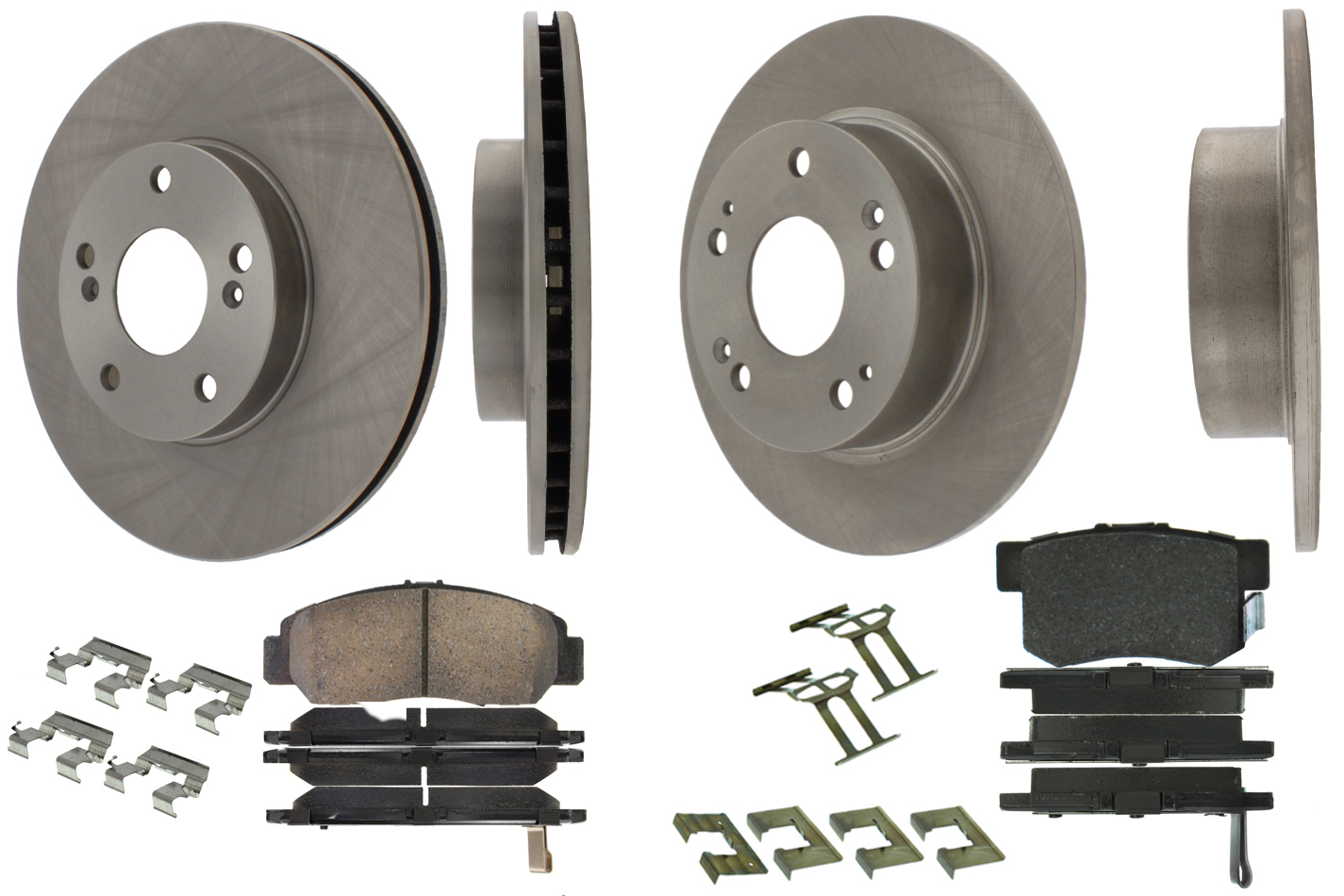 905.40034 Centric Brake Parts Select Axle Pack 4 Wheel