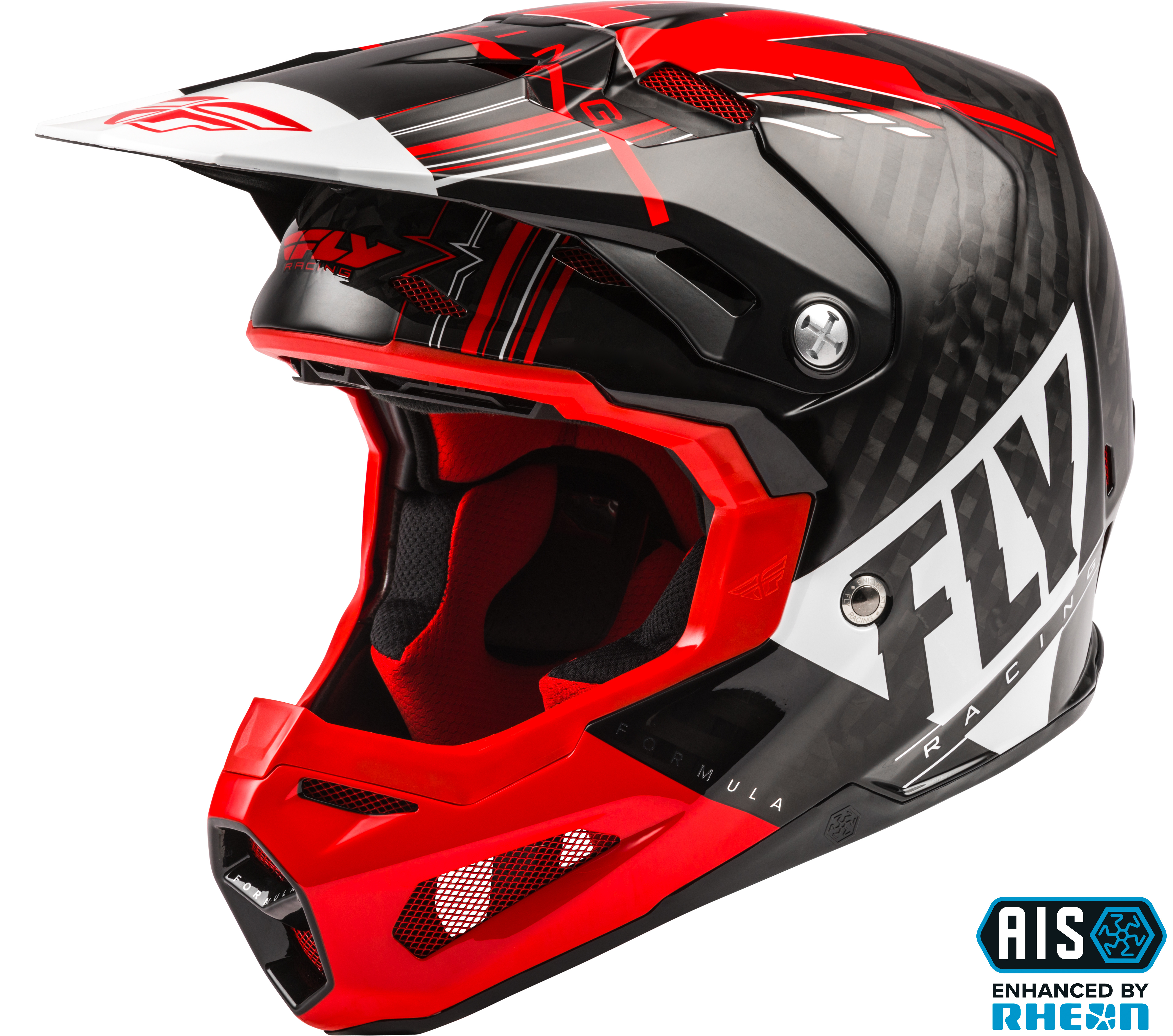 73-4413S Fly Racing Formula Vector Helmet Red/White/Black Sm