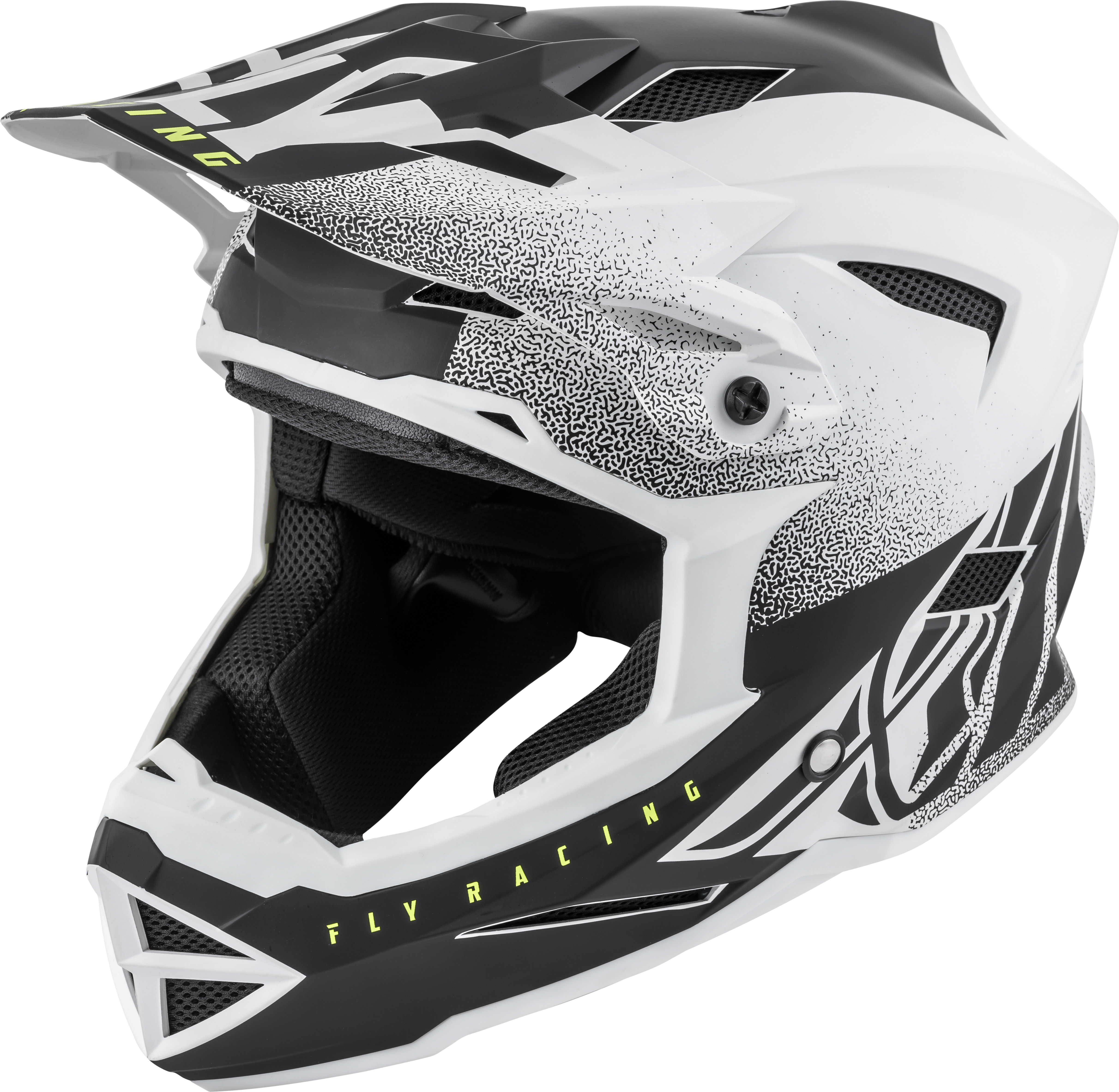 73-9171L Fly Racing Default Helmet Matte White/Black Lg