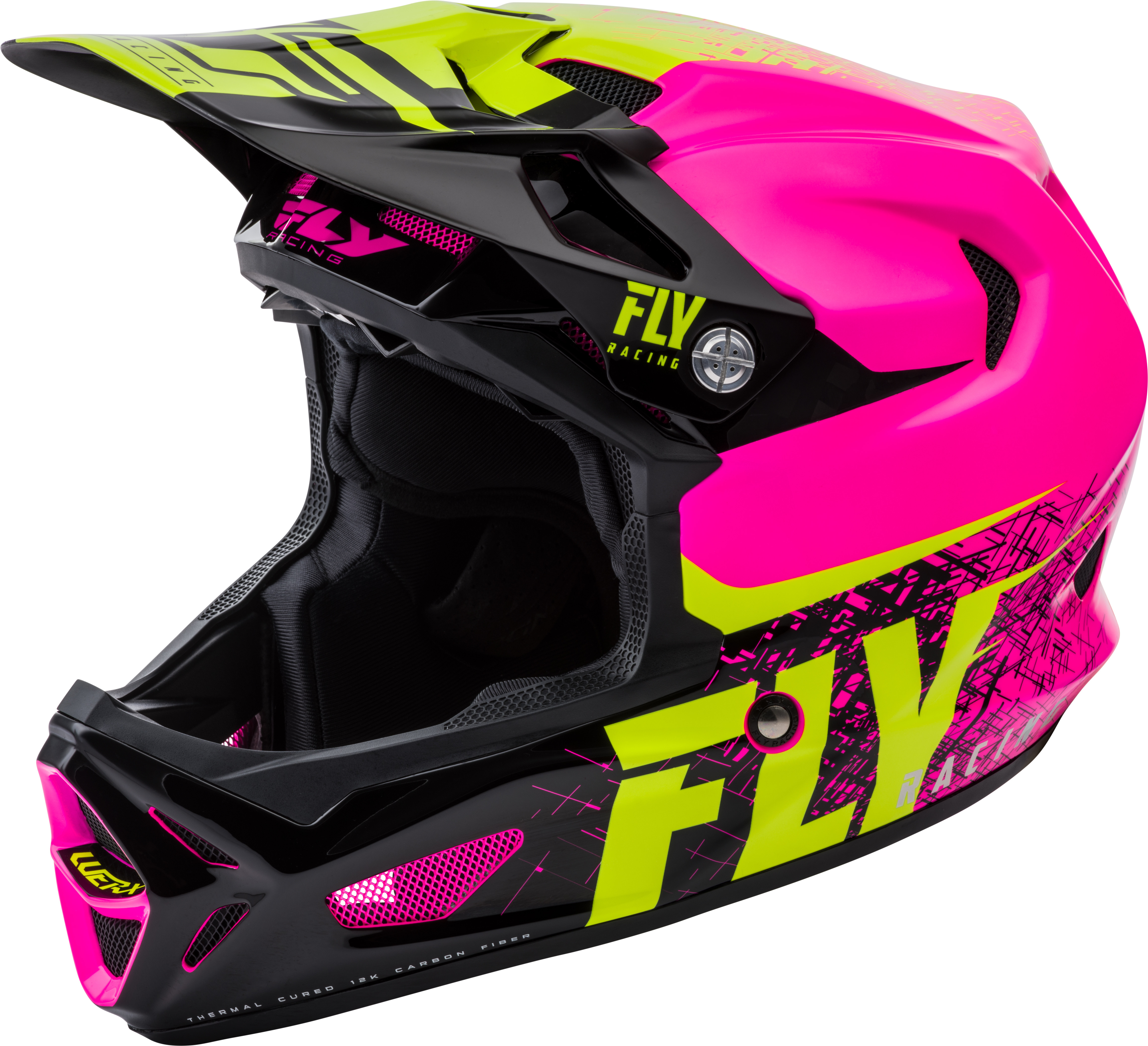 FL04-10-M Fly Racing Werx Carbon Helmet Pink/Hi-Vis Md