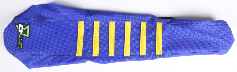 D'Cor 30-70-405 Seat Cover Blue/Yellow W/Ribs