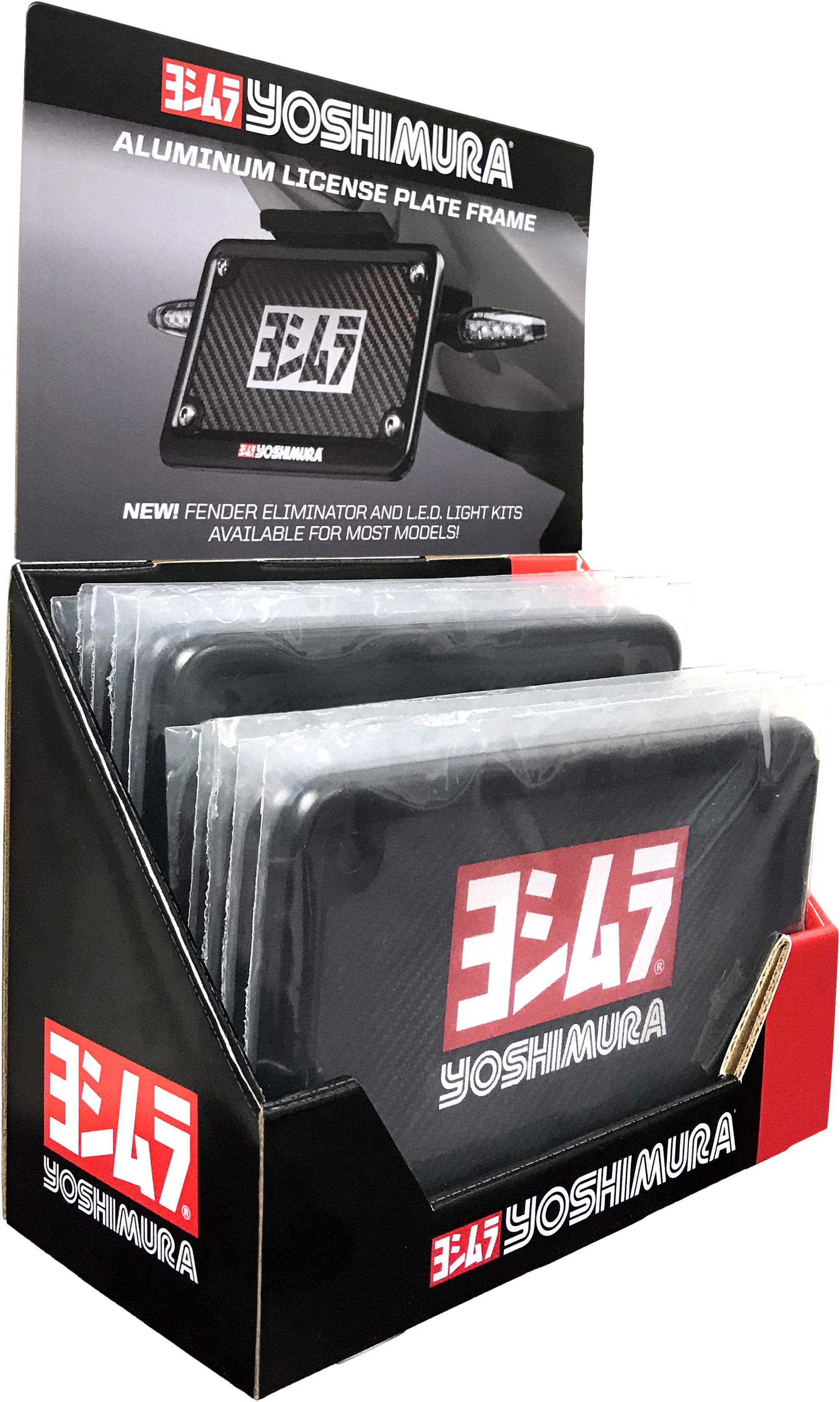 Yoshimura 070BG-POP-K License Plate Frame Black 10/Pk Pop