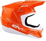 H16T5P-OW-M EVS T5 Pinner Helmet Orange/White, Medium