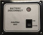 00-01114-000 Intellitec Battery Disconnect Switch Panel Black/ Silver