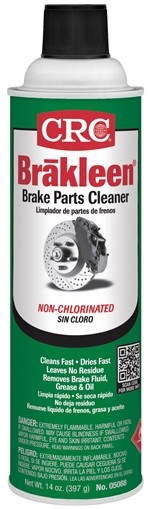 05088F CRC Industries Brake Cleaner 14 Ounce Aerosol Can