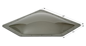 12081 Icon Skylight 4 Inch High Bubble Type Dome
