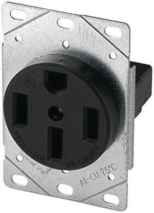 1258-SP Cooper Wire Receptacle 3 Pole/ 4 Wire