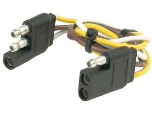 30268 Husky Towing Trailer Wiring Connector 3 Pole Flat Extension/ on